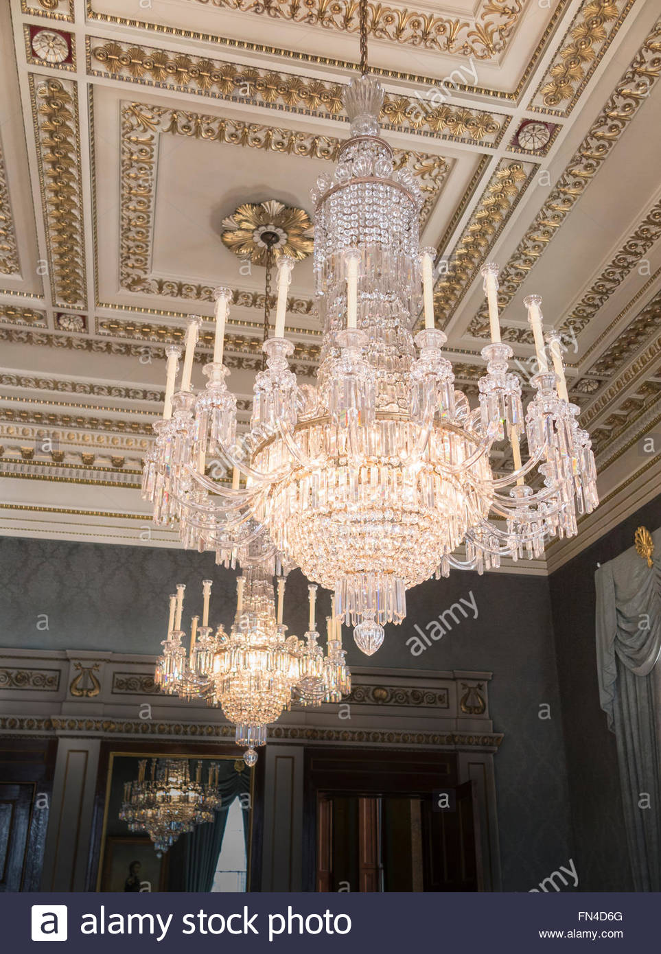 963x1390 Beautiful Crystal Chandeliers In The Court Drawing Room