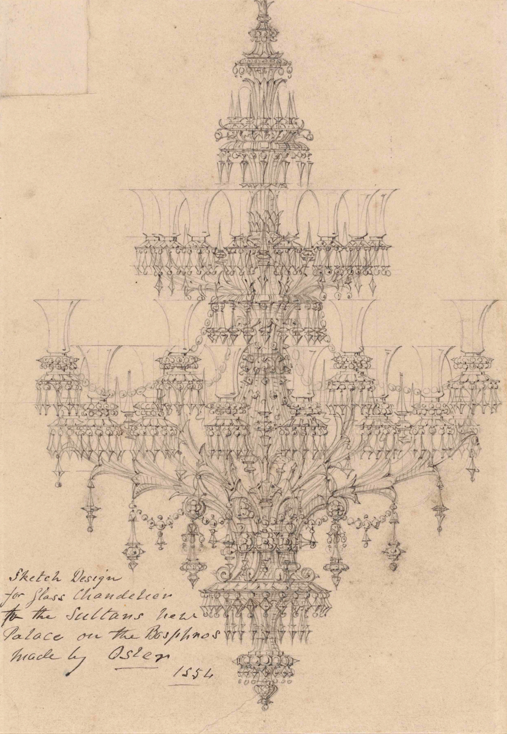 1000x1447 Drawings Of Chandeliers