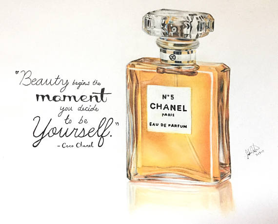 Chanel Perfume Drawing At Getdrawingscom Free For Personal Use