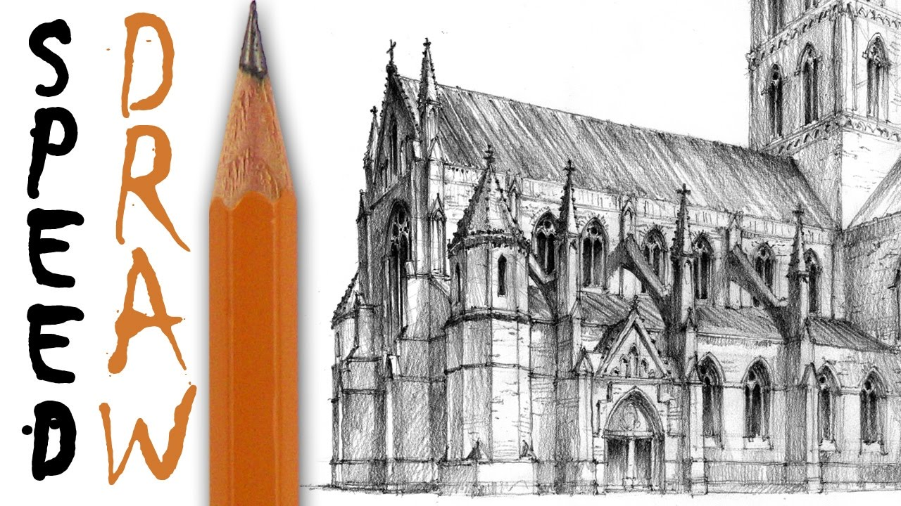 1280x720 How To Draw A Gothic Church