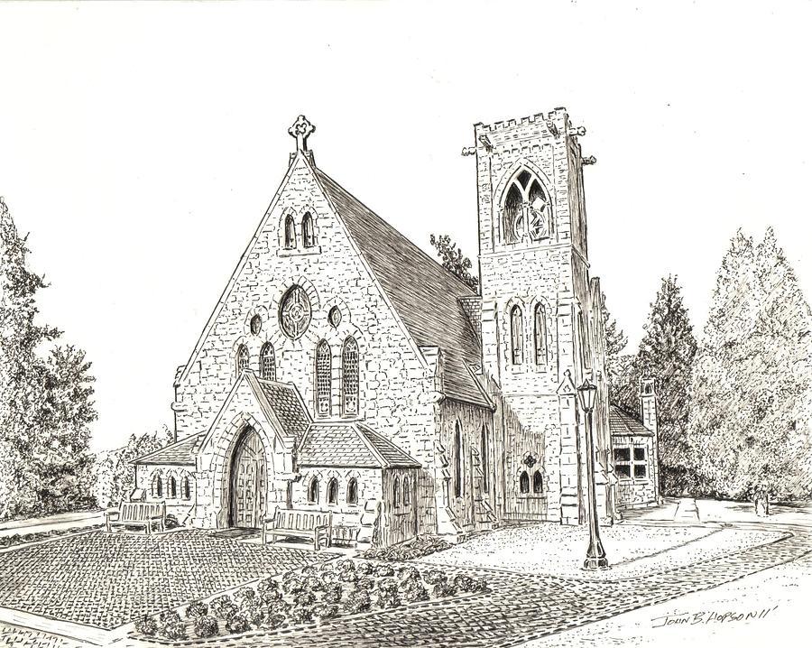 900x718 Uva Chapel Drawing By John Hopson