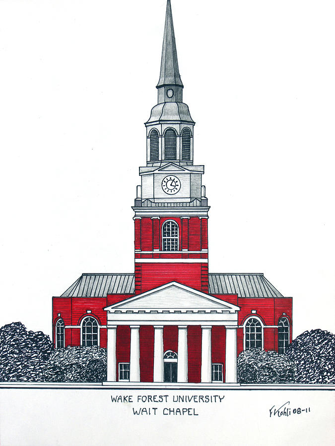 675x900 Wake Forest Drawing By Frederic Kohli