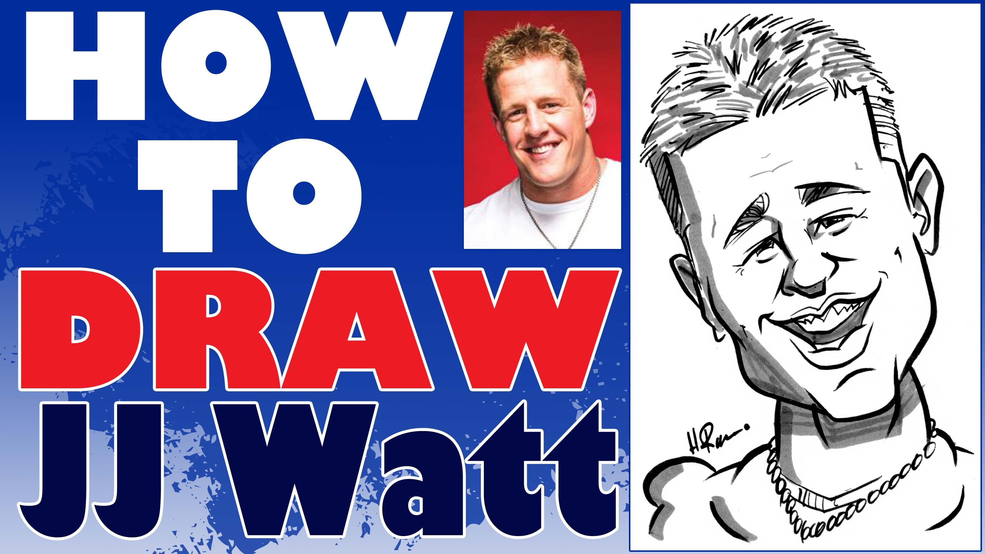 3300x1856 How To Draw A Quick Caricature Jj Watt
