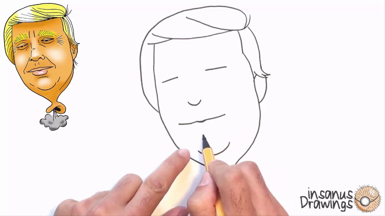 1280x720 How To Draw Donald Trump Caricature