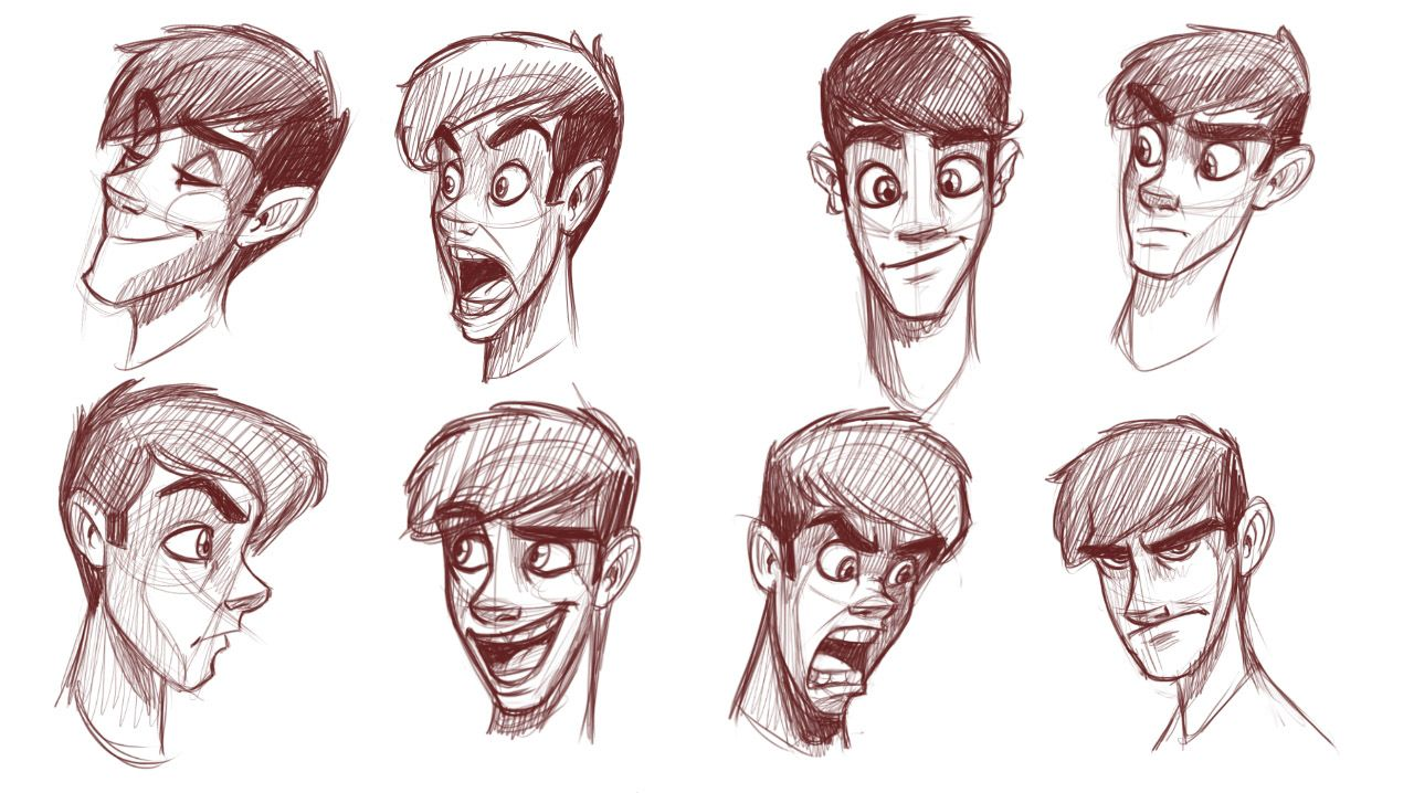 1280x718 How To Draw Heads Of Slim Characters Art References