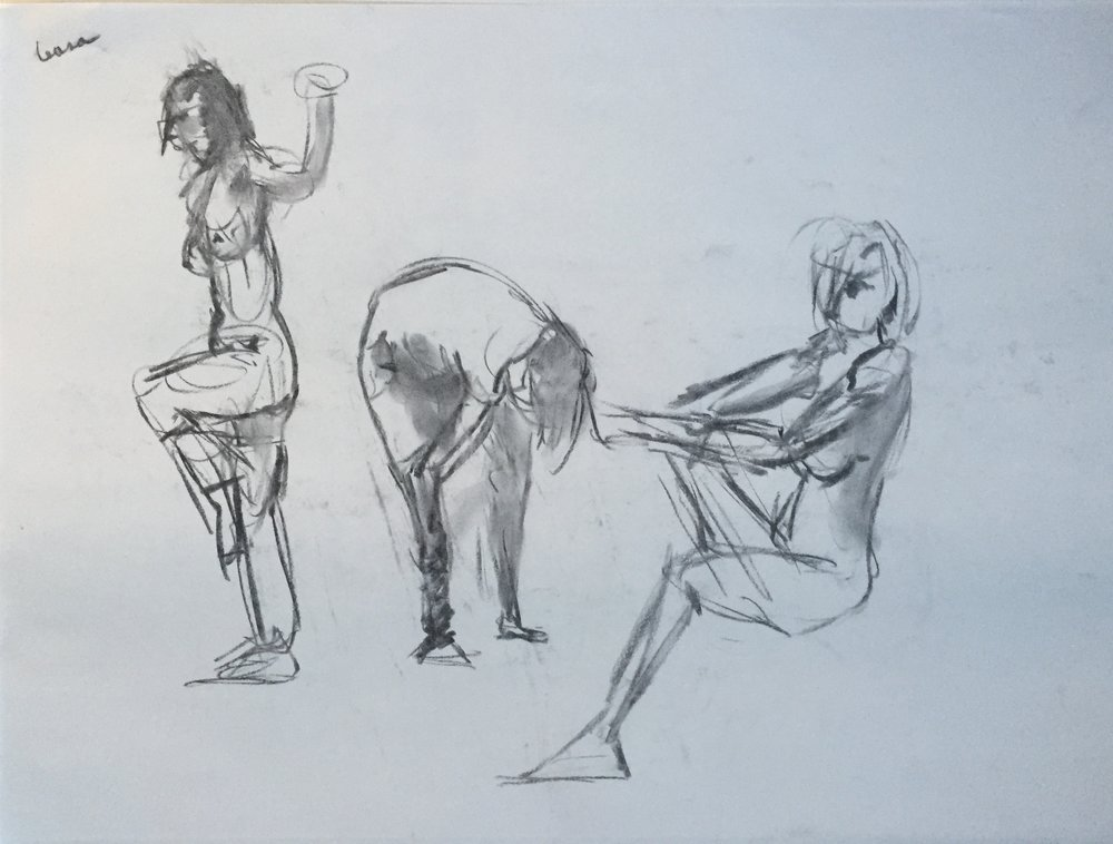 1000x758 Charcoal 3 Female Nudes Gesture Drawing 8 Mgh Discovered Art