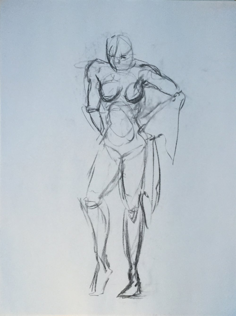 1000x1337 Charcoal Female Nude Gesture Drawing 10 Mgh Discovered Art