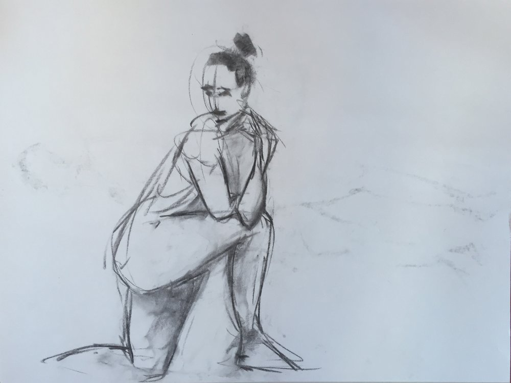 1000x751 Charcoal Female Nude Gesture Drawing 15 Mgh Discovered Art