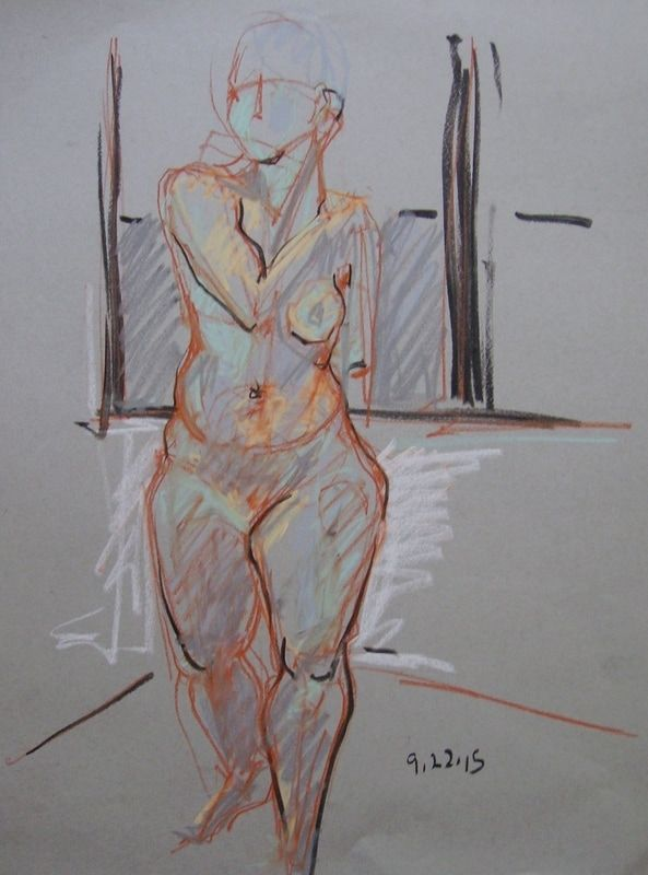 593x800 Charcoal Gesture Drawing 2