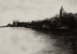 300x210 Charcoal Landscape Drawing