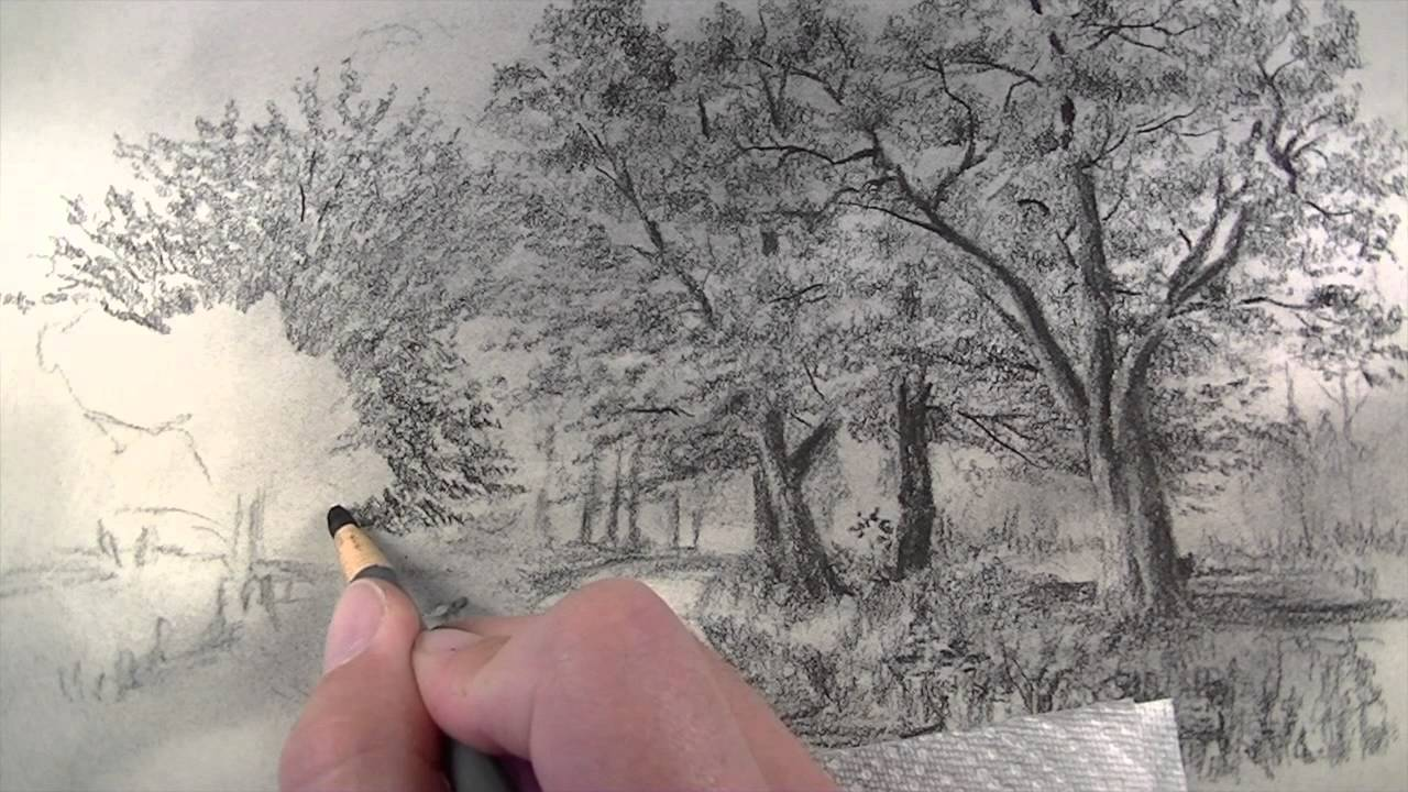 1280x720 How To Draw With Charcoal Pencils