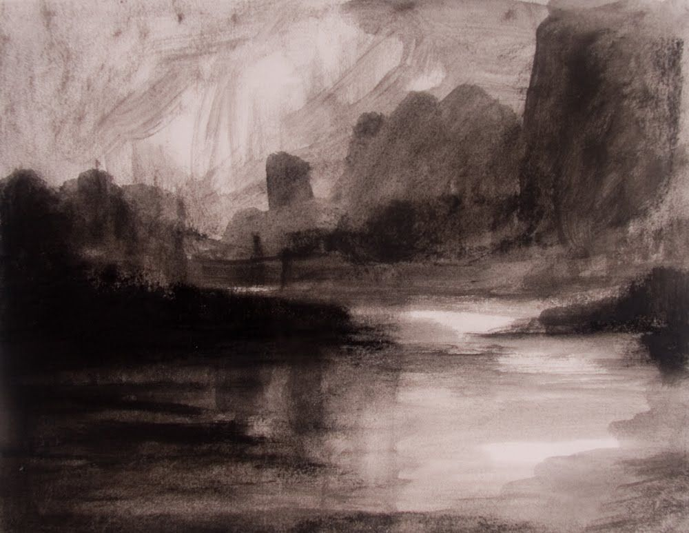 1000x773 Jan Blencowe The Poetic Landscape Expressive Charcoal Drawings