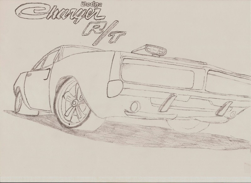 800x582 Dodge Charger Drawing By Jelluzz