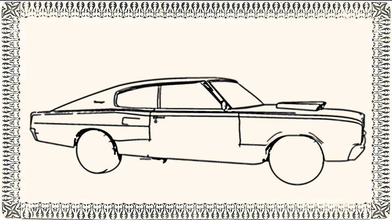 1280x720 Draw Dodge Charger Car