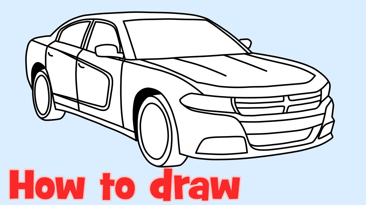 1280x720 How To Draw A Car Dodge Charger Rt 2015