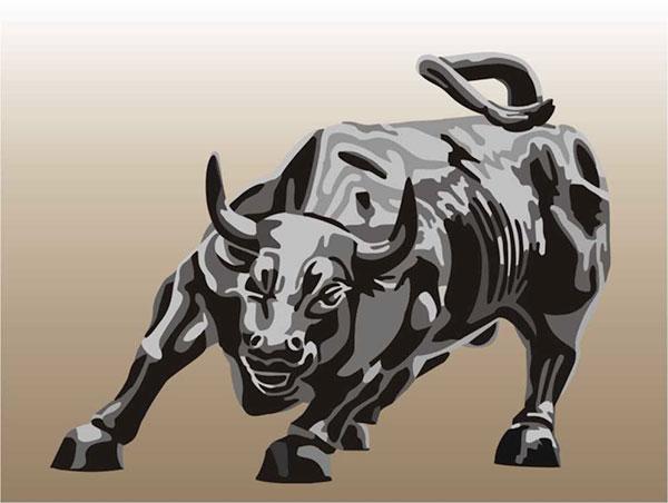 600x452 Charging Bull Stencil Designs From Stencil Kingdom