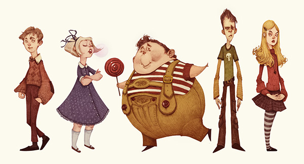 600x325 Charlie And The Chocolate Factory (Character Designs) On Behance