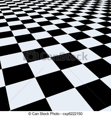 450x470 Checkerboard Background. Perspective View Stock Illustration
