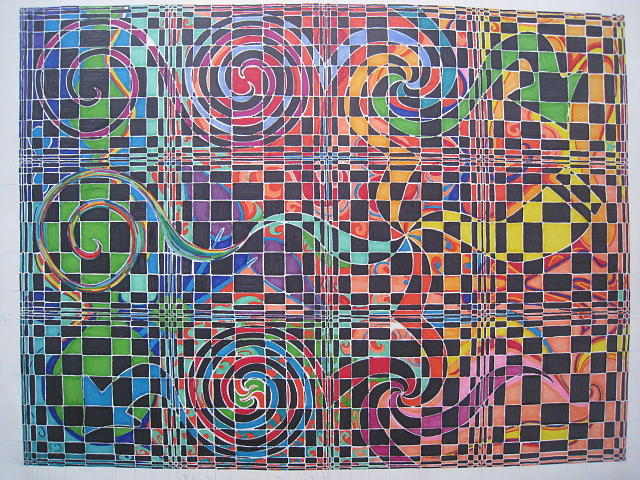 640x480 Checkered Drawing By Will Stevenson
