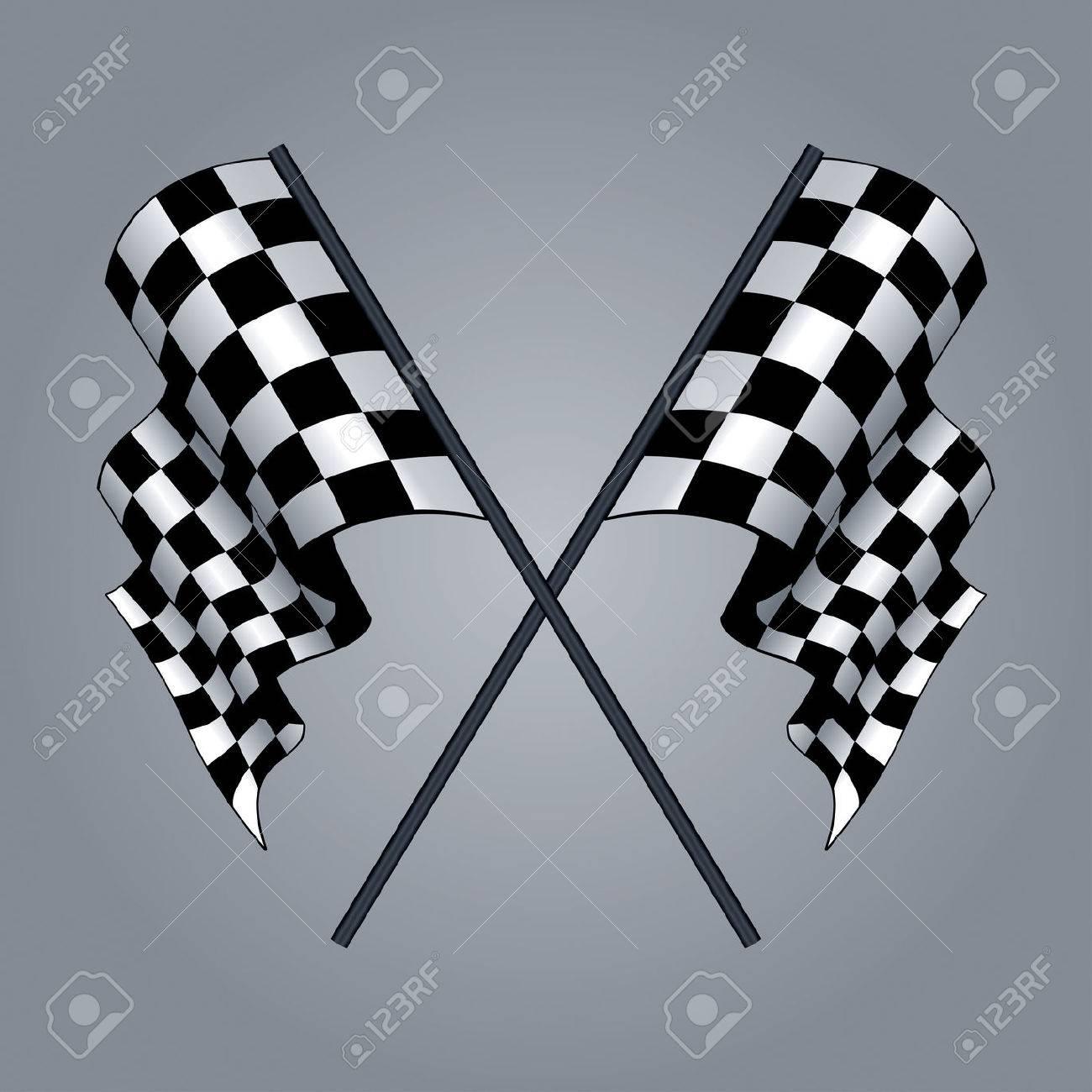 1300x1300 Checkered Flag Drawing Royalty Free Cliparts, Vectors, And Stock