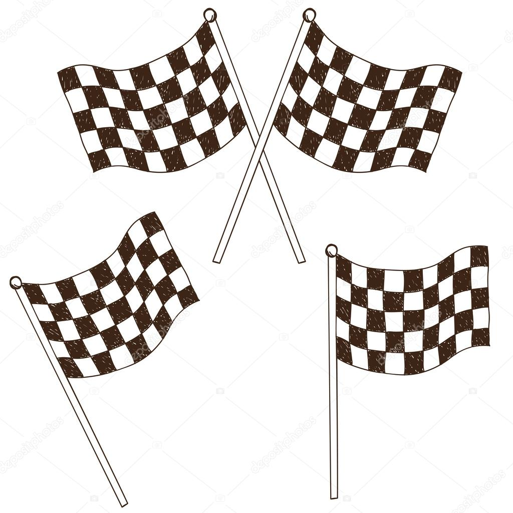 1024x1024 Checkered Flag Drawing Stock Vector Kytalpa
