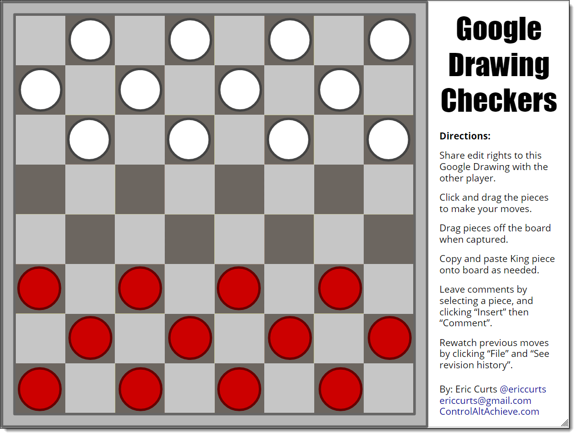 1166x882 Control Alt Achieve Google Drawings Chess And Checkers For Students