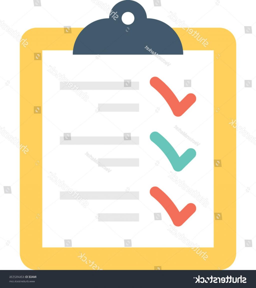 1024x1150 Best 15 Stock Vector Checklist Icon Drawing