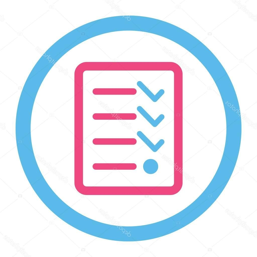 1024x1024 Best Hd Stock Illustration Checklist Flat Pink And Blue Drawing