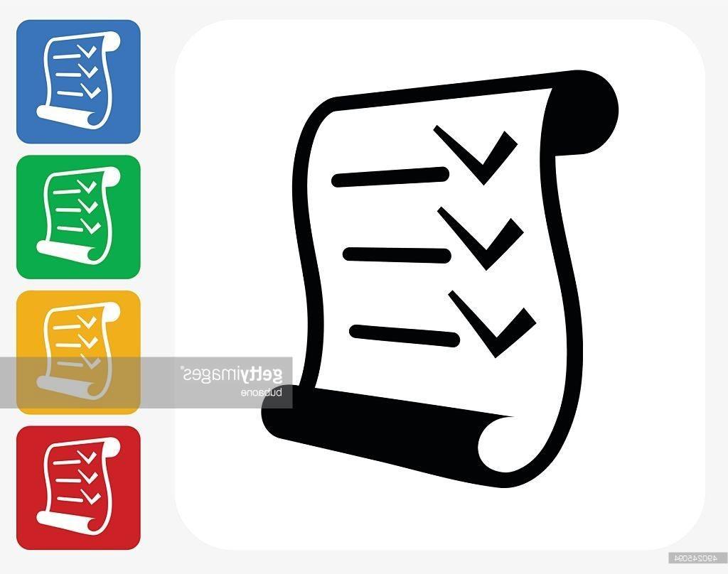 1024x808 Unique Checklist Icon Flat Graphic Design Vector Drawing