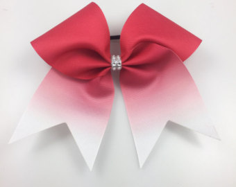 340x270 Red Glitter Ombre Cheer Bow Cheer Bows Red Cheer Bows