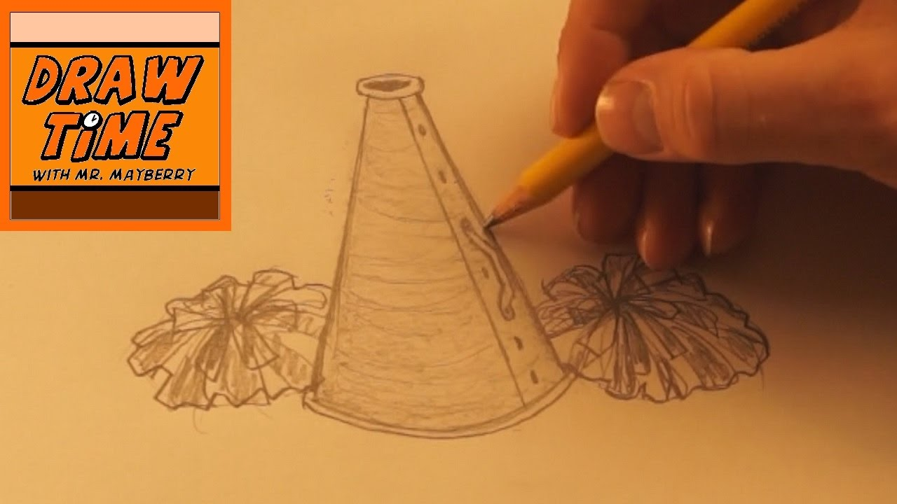 1280x720 How To Draw A Megaphone