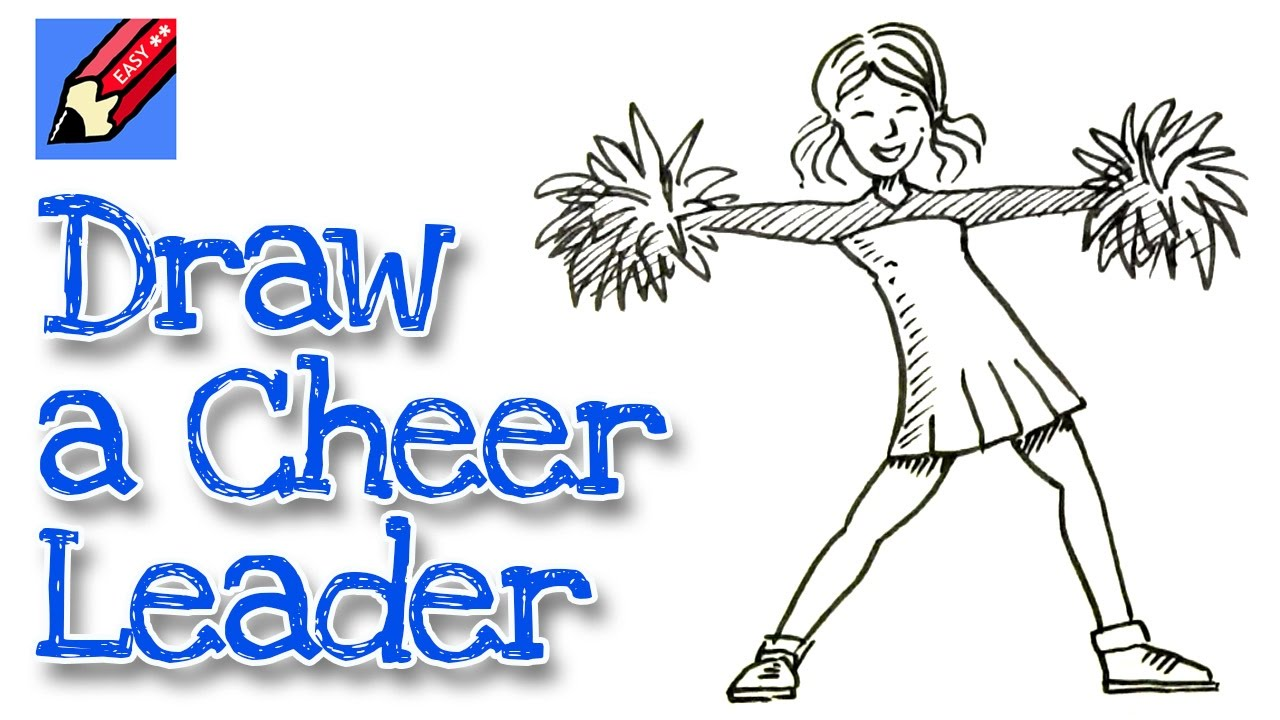 1280x720 How To Draw A Cheerleader Real Easy