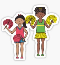 210x230 Cheerleaders Drawing Stickers Redbubble