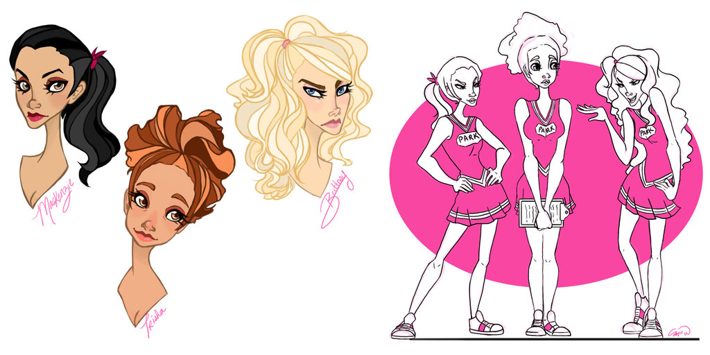 1024x512 Mpgis The Cheerleaders By Shmiley