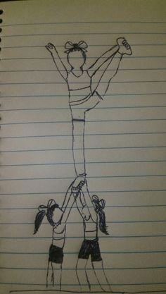 236x417 Cheerleading Drawing Art Cheerleading