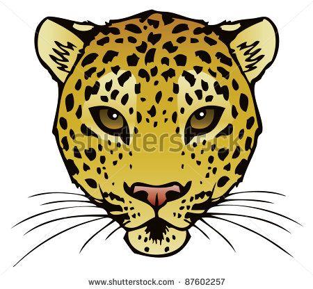 450x416 Cheetah Face Drawing