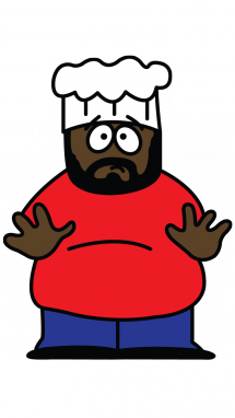215x382 How To Draw Chef From South Park, Cartoons, Easy Step By Step