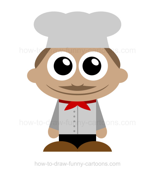 500x560 To Draw A Chef