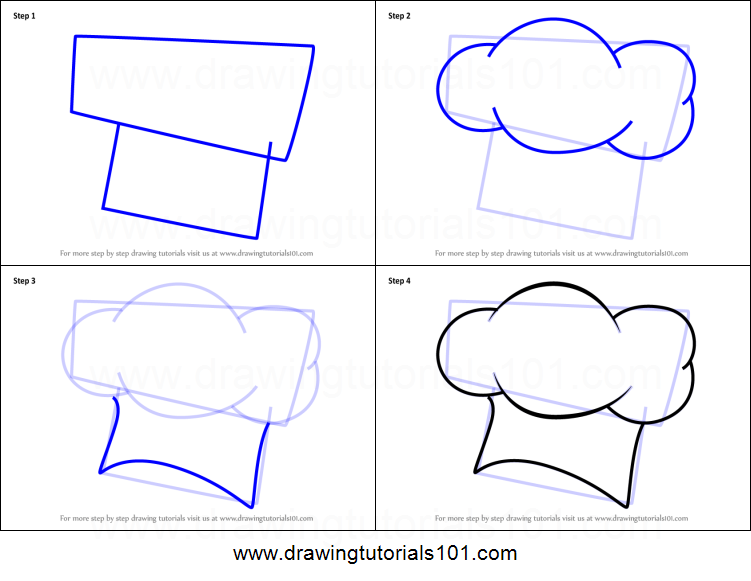 751x581 How To Draw A Chef Hat Printable Step By Step Drawing Sheet