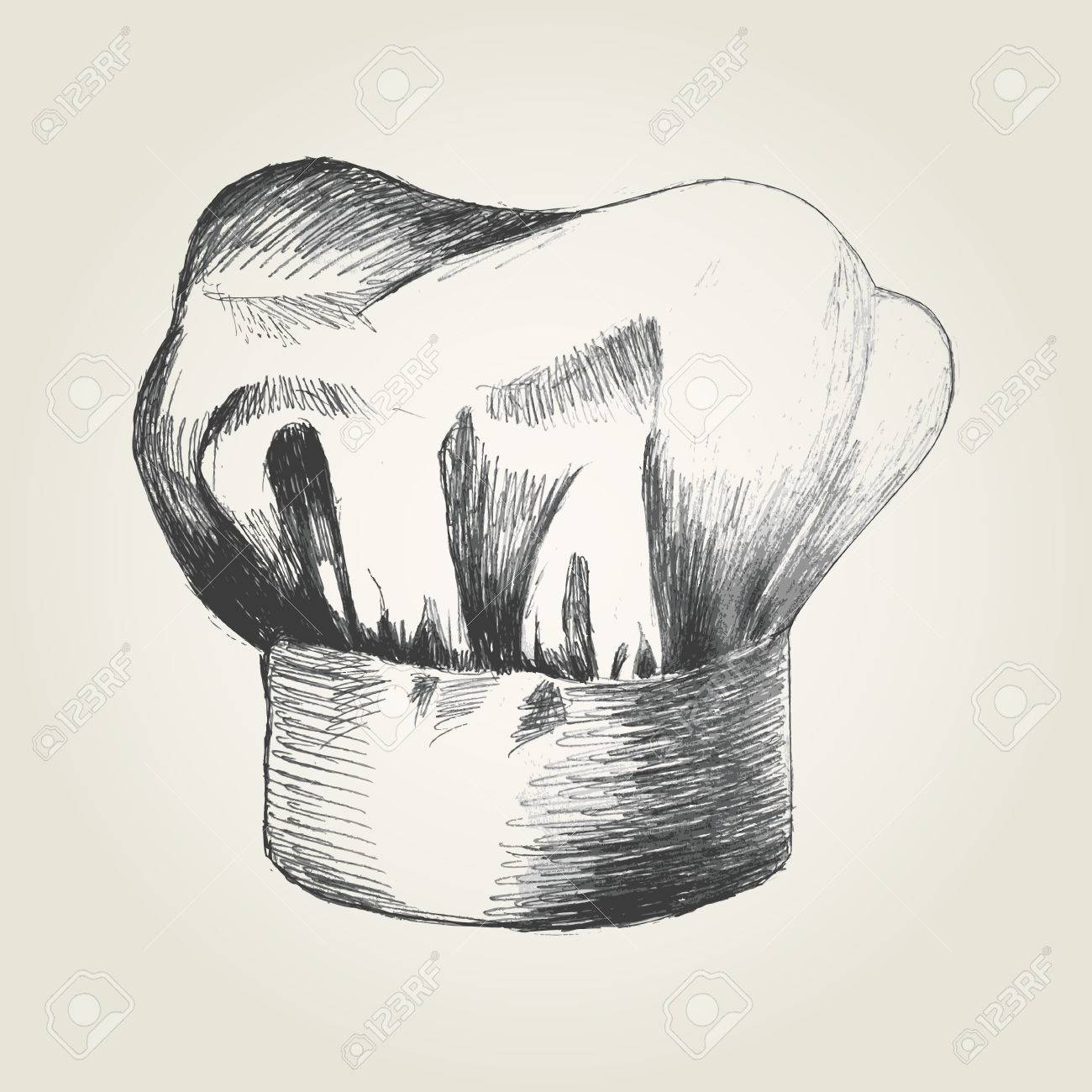1300x1300 Sketch Illustration Of A Chef Hat Royalty Free Cliparts, Vectors