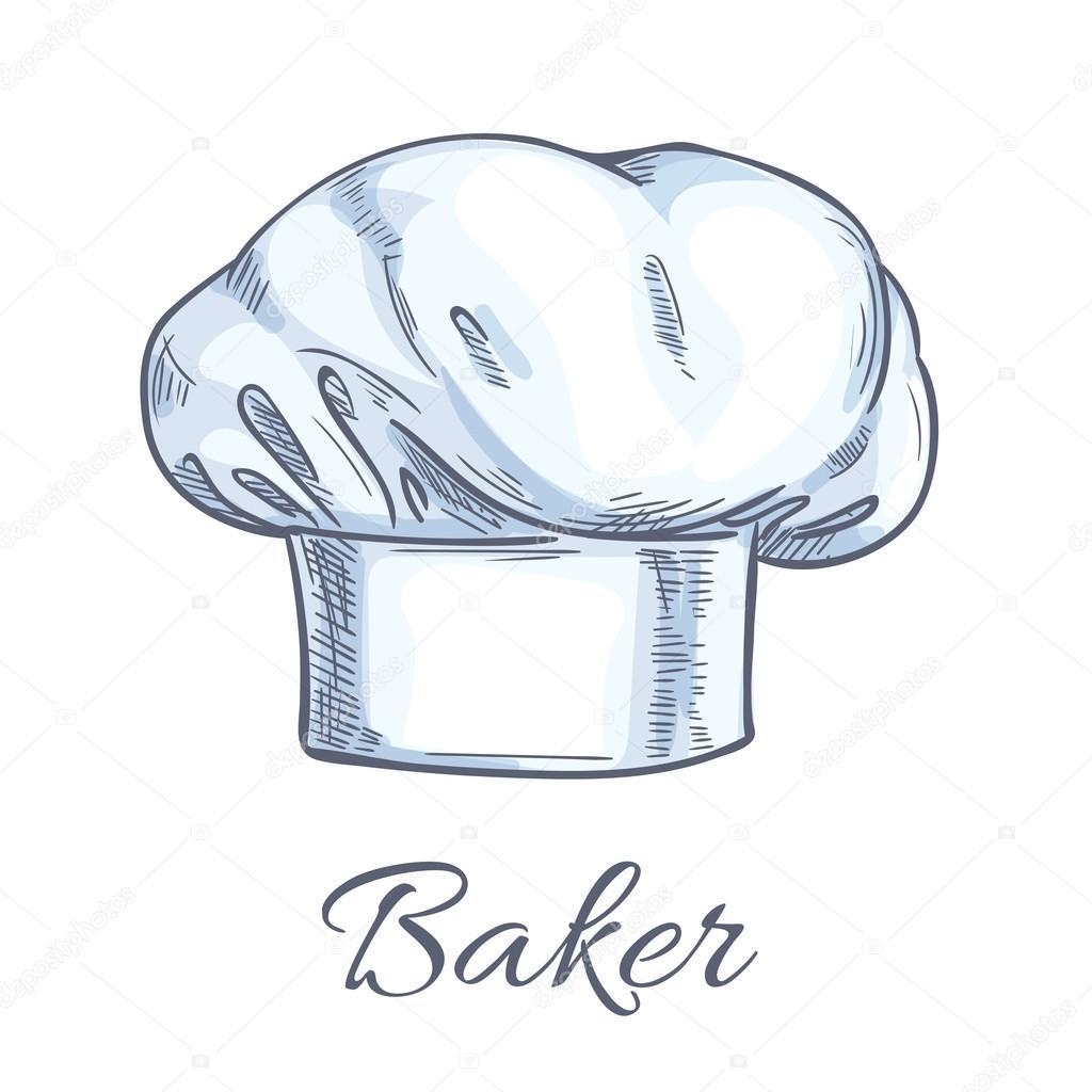 1024x1024 White Baker Toque Or Chef Hat Sketch Stock Vector Seamartini