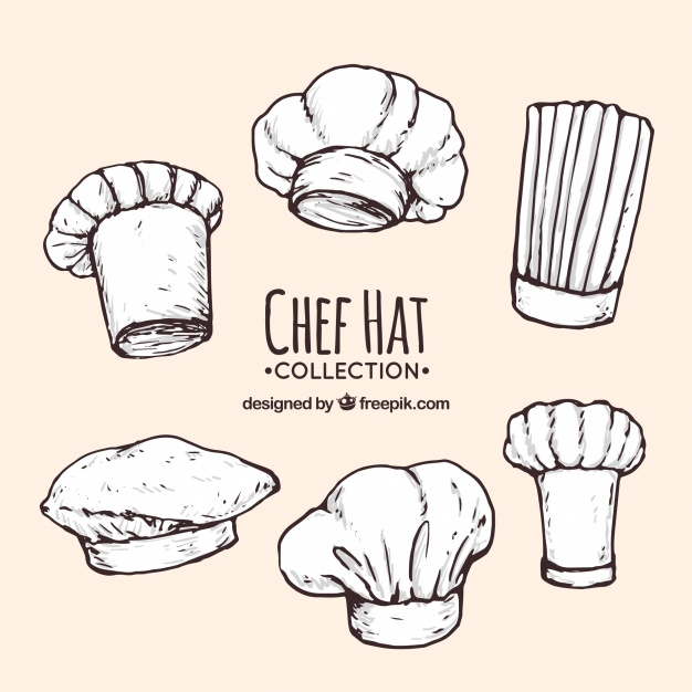 626x626 Assortment Of Hand Drawn Chef Hats Vector Free Download
