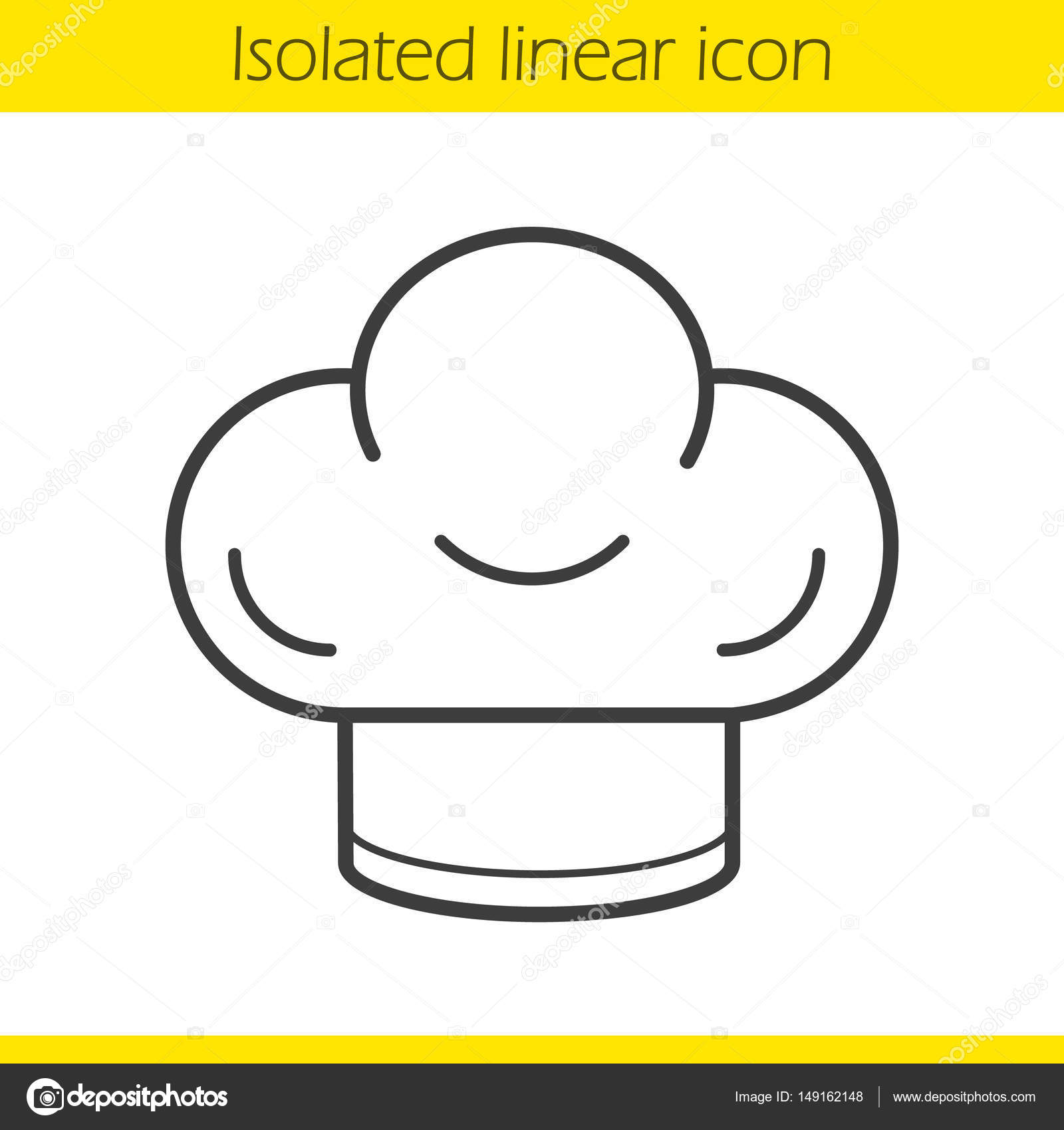1600x1700 Chef's Hat Linear Icon Stock Vector Bsd