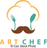 190x194 Chef Hat On Spoon And Fork Vector Illustration On Grey Vector