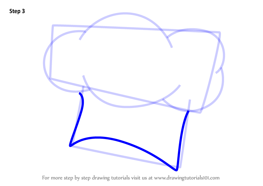 844x598 Learn How To Draw A Chef Hat (Hats) Step By Step Drawing Tutorials