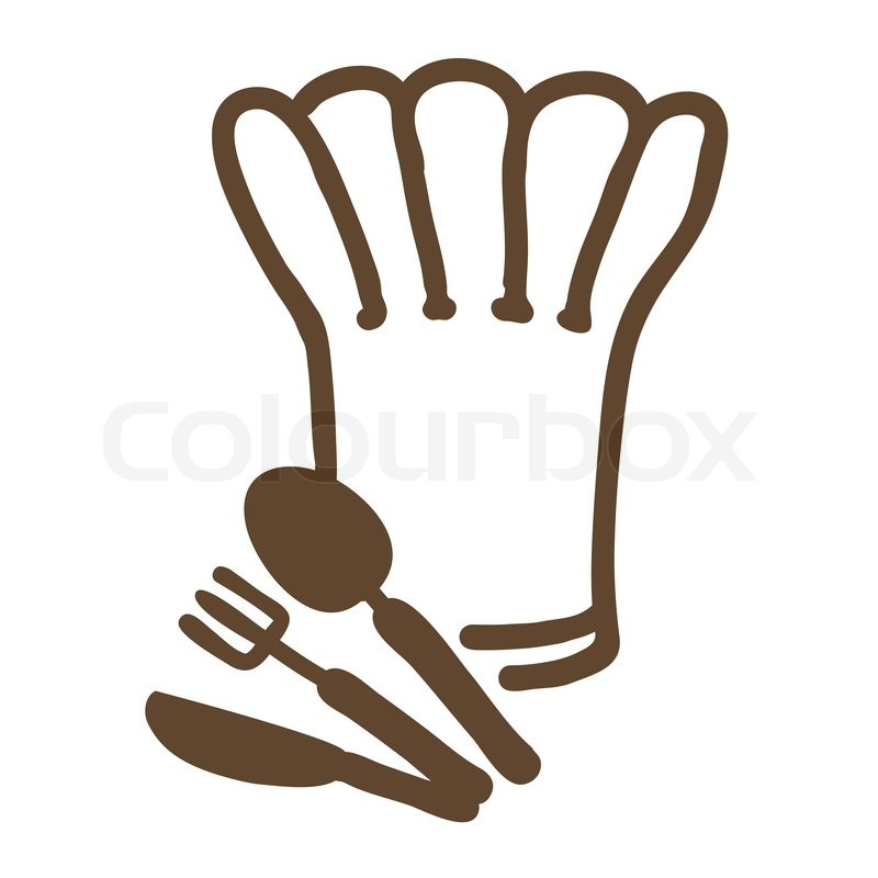800x800 Ornate Chef Hat With Spoon And Fork Icon For Menu. Drink Art