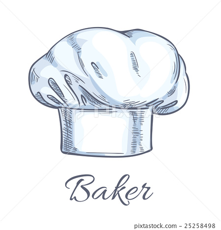 450x468 White Baker Toque Or Chef Hat Sketch