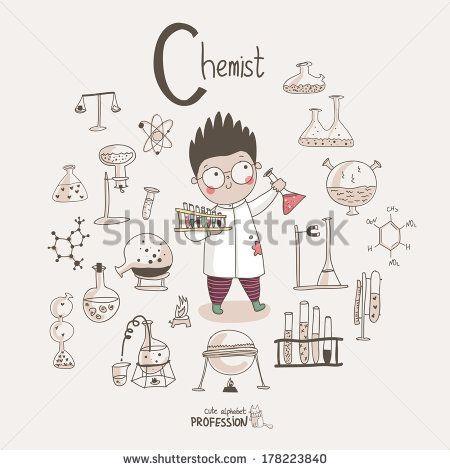 450x470 Cute Vector Alphabet Profession. Letter C