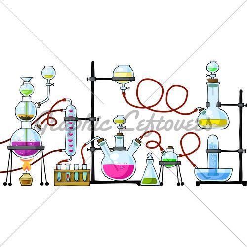 500x500 Chemistry Lab Drawing