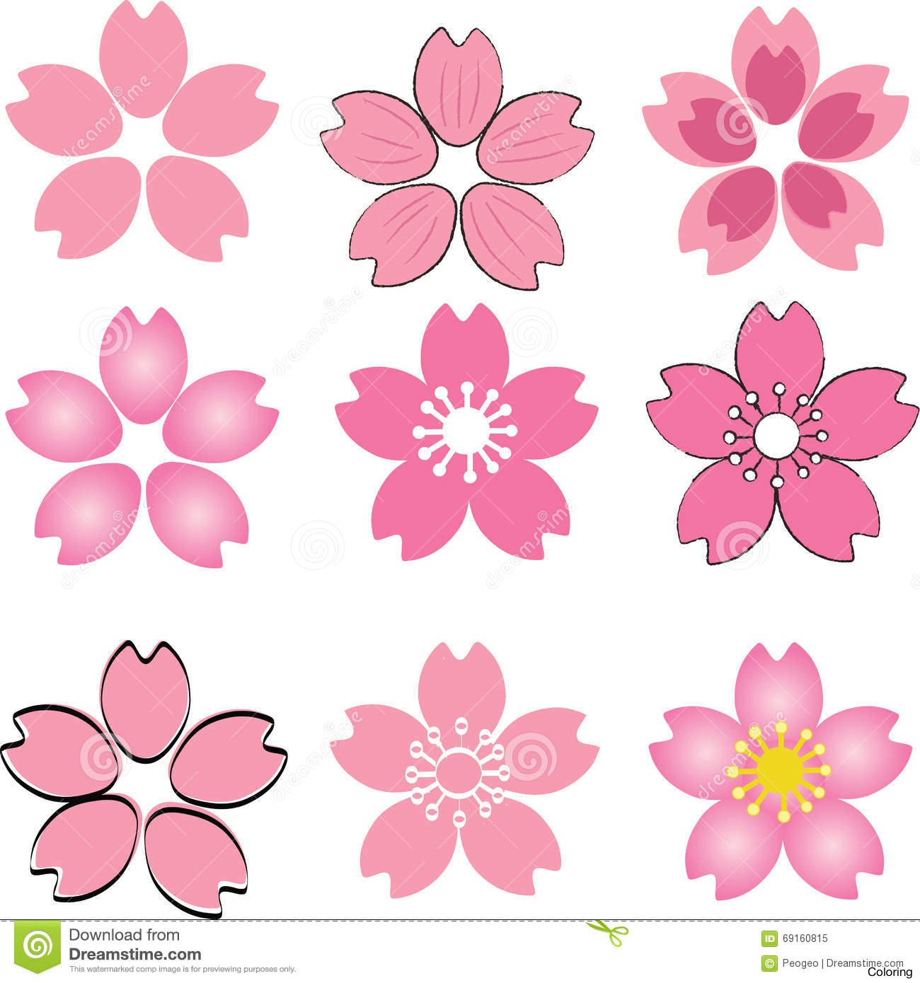 1300x1390 Sakura Flower Drawing Maxresdefault Cherry Blossom Drawing